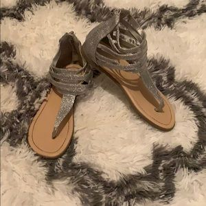 Other - Sparkly silver sandals